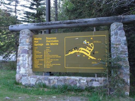 Miette Hot Springs, Jasper National Park in Alberta Canada.