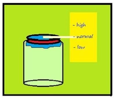 Simple homemade barometer