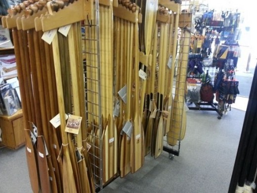 Photo by me as I am shopping for paddles.