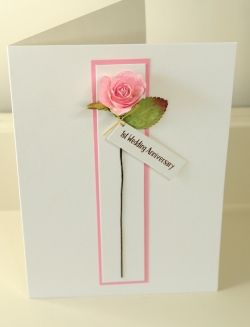 1st Anniversary Paper Rose Card