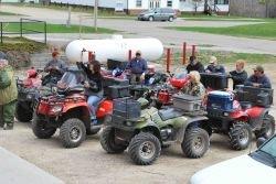 ATV riders at Northome