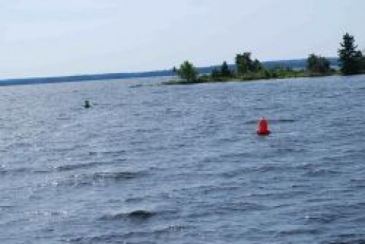 naviagtion bouys at Brule Narrow, Rainy Lake