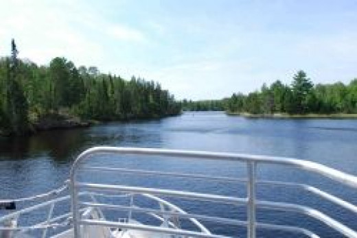 American Channel, Kettle Falls, Rainy Lake.