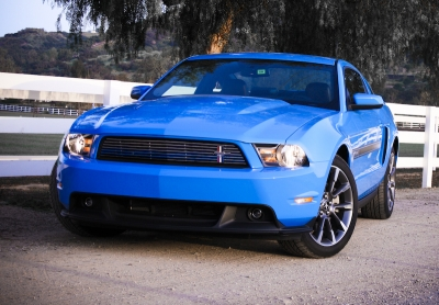 Blue 350HP 2011 Mustang