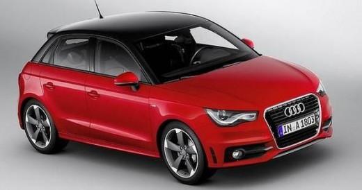 Red Audi A1 Sportback 2012