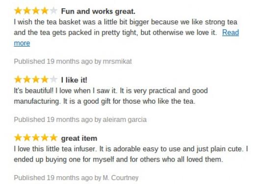 Float My Boat Floating Tea Infuser reviews