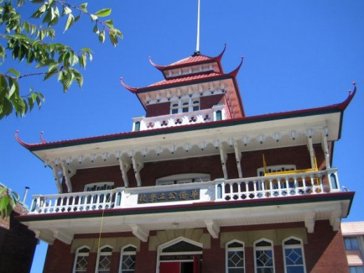 The old Chinese Public School was built in 1909 and has been well preserved.
