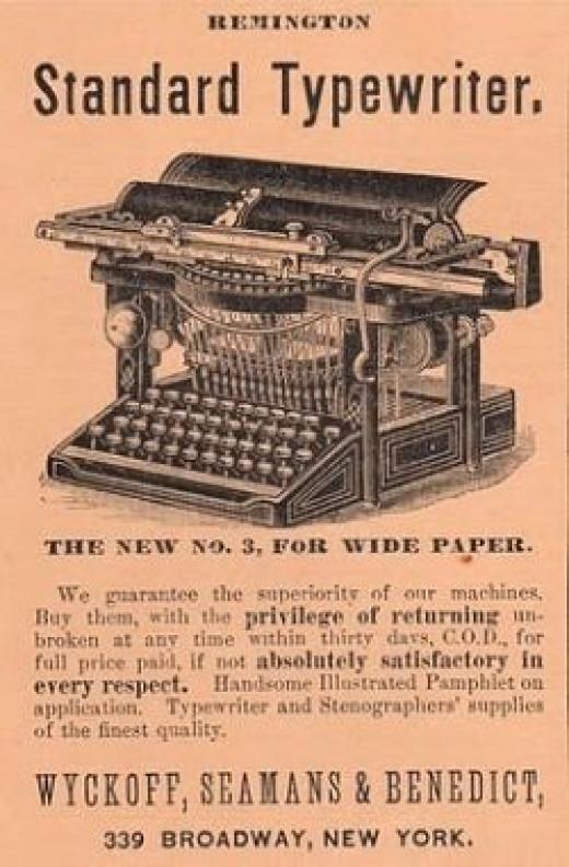 Wide carriage vintage typewriter