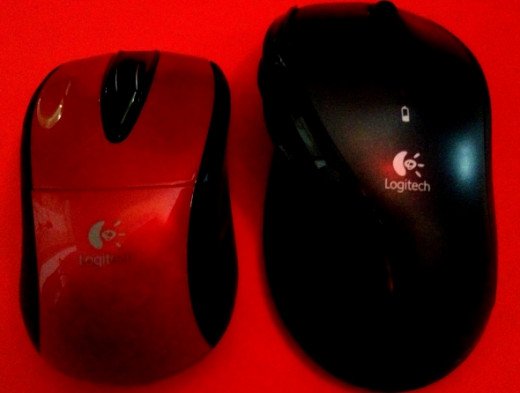 Right is old mouse and left is new.