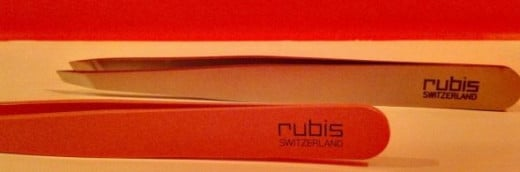Two nice Rubis pairs, the front one is pink enameled and the back is stainless steel.