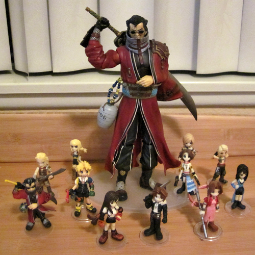 Auron under siege from my FF Trading Arts minifigs.