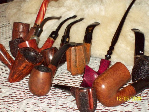 A few examples of pipes I once owned. Sadly, I had to sell my collection when times were hard.
