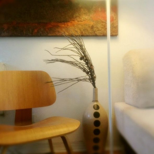 Love everything in your tiny home, they say.  My beautiful Eames chair.