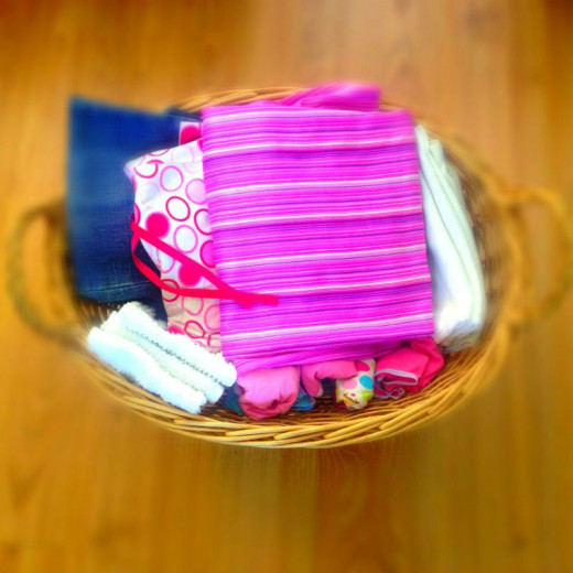 Wood floors (well,laminate) throughout. My 'love-everything' laundry basket