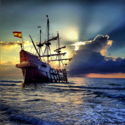 A Spanish galleon visits Fort Lauderdale, Florida
