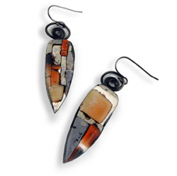Stylish mosaic earrings