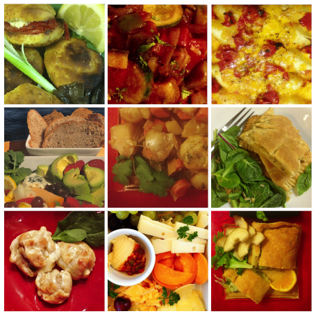 A variety of meat-free meals