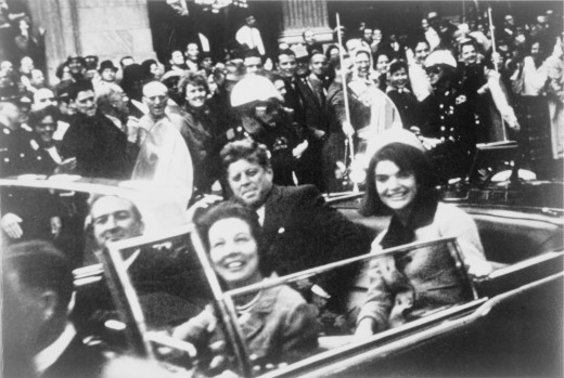 President and Mrs Kennedy in the motorcade
