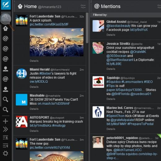 Simplify using Twitter with Tweetdeck.