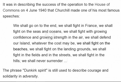 Winston Churchill's famous speech.