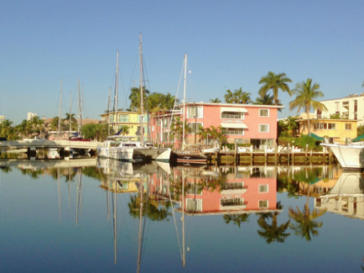 See Mid Century Modern architecture along the Las Olas finger islands.