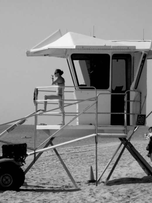 Lifeguard on Fort Lauderdale beach