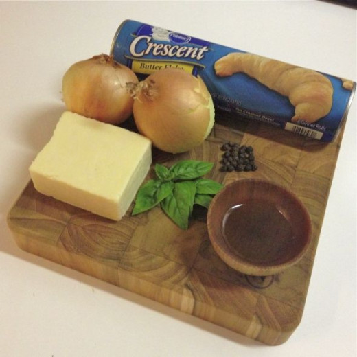 Ingredients for cheese and onion pasties