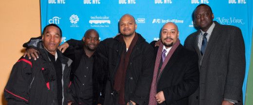 "(L-R) Korey Wise, Antron McCray, Kevin Richardson, Raymond Santana and Yusef Salaam attend the 2012 NYC Doc Festival closing night screening of ""The Central Park Five"" at SVA Theater on November 15, 2012 in New York City."