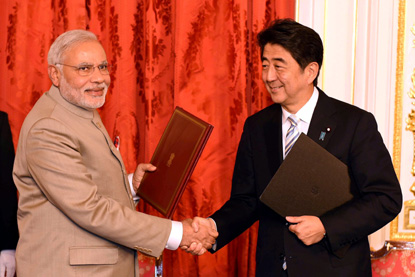 India and Japan signed Five Pacts