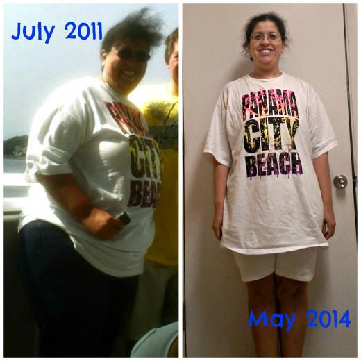 Same shirt, 3 years later