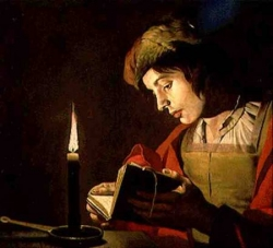 A Woman Reading the Bible