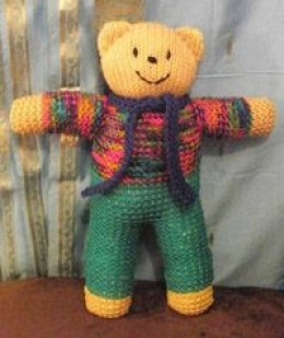 Knitted Teddy Bear Pattern For Charity : Knitting for UK charities