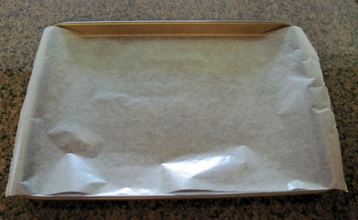 Cover Baking Sheet with Wax Paper