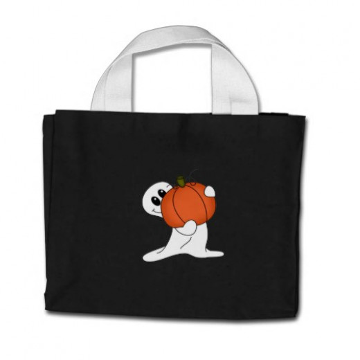 Ghost Halloween Bag by cooltees
