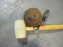 Tools Needed to Drain a Coconut