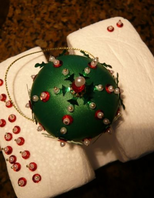 Almost Done With the Beaded Ornament