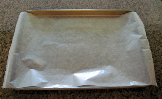 Cover Cookie Sheet with Wax Paper