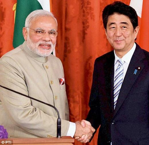 Mr.Narendra Modi and Mr.Shinzo Abe