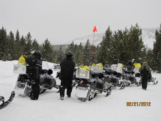 Snowmobile Rest Stop
