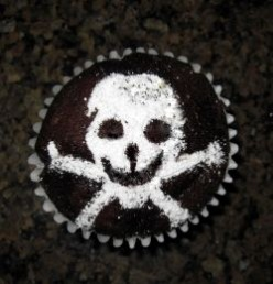 Easy Stenciled Cupcakes for Halloween