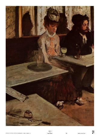 Dans un café ou L'Absinthe by Edgar Degas (1834-1917)