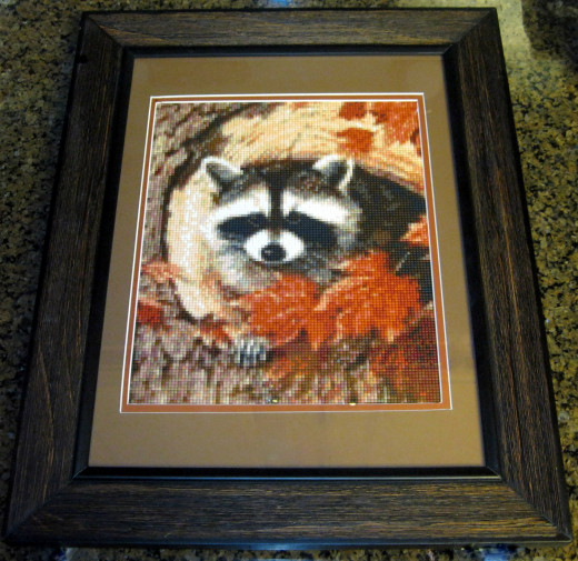 HobbyWare Raccoon Babe Mosaic Picture Kit