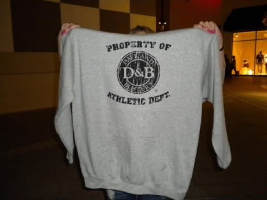 I turned in my game tickets for this cool Dave & Busters Sweatshirt