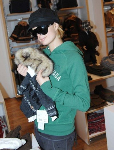Paris Hilton Wears Roots