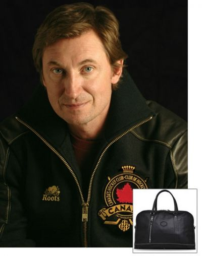 "Hockey Legend Wayne Gretzky said, about the Roots 72 hour bag, ""it is the best weekender bag I've ever traveled with."""