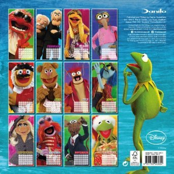 Back of The Muppets 2014 Calendar