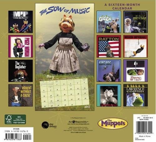 The Muppets Calendar 2012