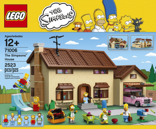The Simpsons House, Lego set number 71006, contains a whopping 2,523 pieces. How long do you think it will take to build?