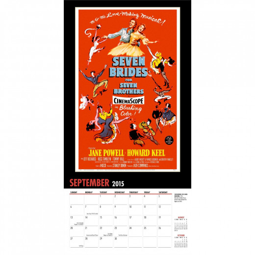 Seven Brides and Seven Brothers 2015 Calendar Poster Page