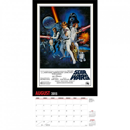 Star Wars 2015 Calendar Poster Page